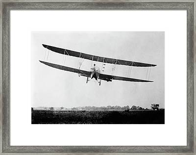Wright Model H Airplane Framed Print by Library Of Congress