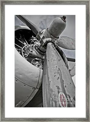 Wright R-1820-82 Cyclone Framed Print by Charles Dobbs