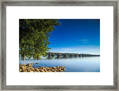 Wrights-ferrry Bridge Framed Print