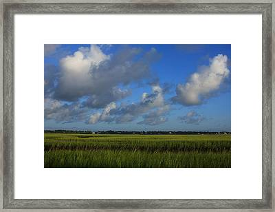 Wrightsville Beach Marsh Framed Print by Mountains to the Sea Photo