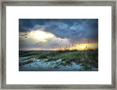 Wrightsville Beach South End Sunset Framed Print