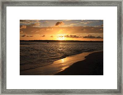 Framed Print featuring the photograph Wrightsville Beach Sunset - North Carolina by Mountains to the Sea Photo