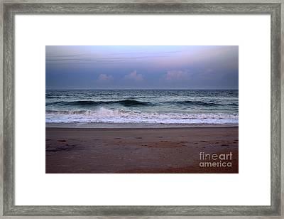 Wrightsville Sunset Waves Framed Print