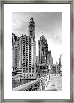 Wrigley And Tribune Framed Print
