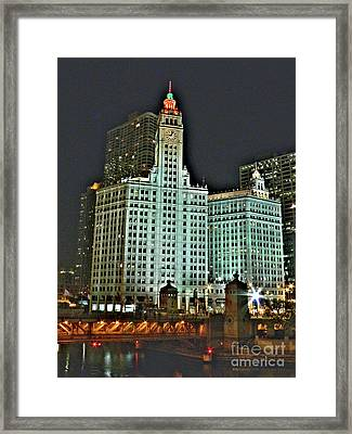 Wrigley At Halloween Framed Print by David Bearden