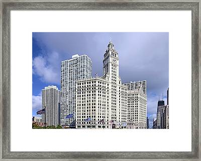 Wrigley Building Chicago Framed Print by Christine Till