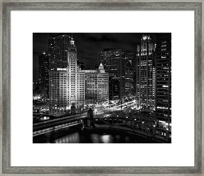 Wrigley Building In Chicago Framed Print by Coby Cooper