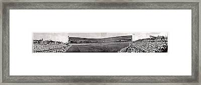 Wrigley Field 1929 Panorama Framed Print by Benjamin Yeager