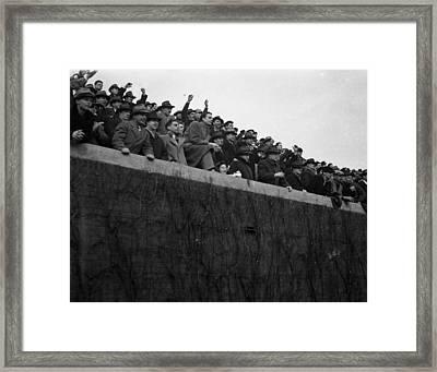 Wrigley Field Chicago Bears Football Fans Framed Print