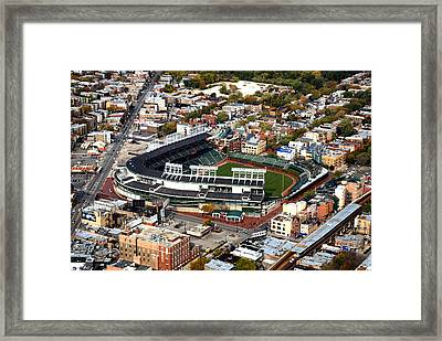 Wrigley Field Chicago Sports 01 Framed Print by Thomas Woolworth