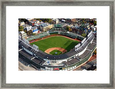 Wrigley Field Chicago Sports 03 Framed Print by Thomas Woolworth