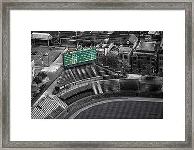 Wrigley Field Chicago Sports 04 Selective Coloring Framed Print by Thomas Woolworth