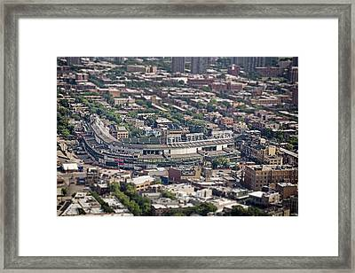Wrigley Field - Home Of The Chicago Cubs Framed Print by Adam Romanowicz