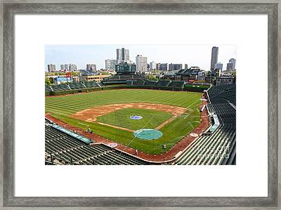 100 Years Old -- Wrigley Field In Green Framed Print