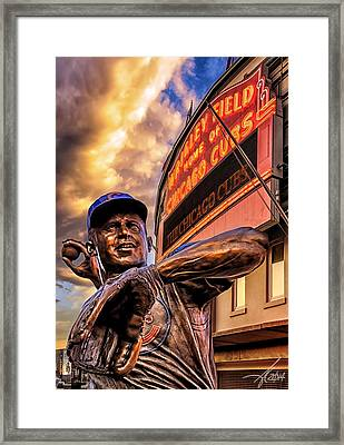 Wrigley Field Legend Framed Print by Anthony Citro