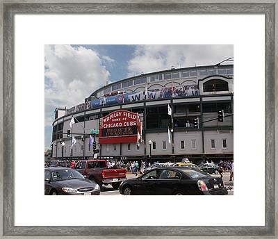 Wrigley Field Framed Print by Paul Anderson