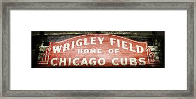 Wrigley Field Sign - No.2 Framed Print by Stephen Stookey