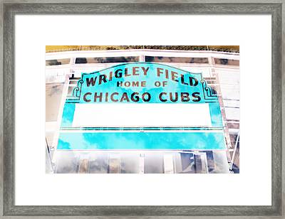 Wrigley Field Sign - X-ray Framed Print by Stephen Stookey