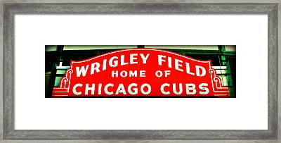 Wrigley Field Sign Framed Print by Stephen Stookey