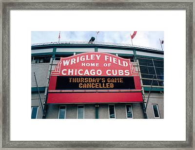 Wrigley Field Weeps For America Framed Print