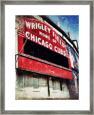 Wrigley Red Framed Print