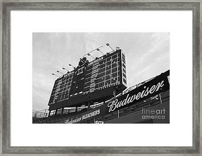Wrigley Scoreboard Sans Color Framed Print by David Bearden