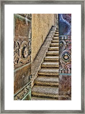 Wrigley's Bronze Doors By Diana Sainz Framed Print