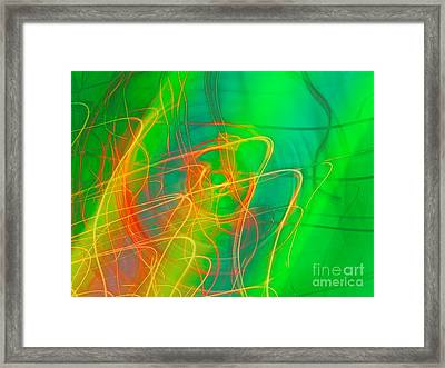 Write Light Rainbow Framed Print