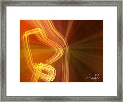 Write Light Shapes Framed Print