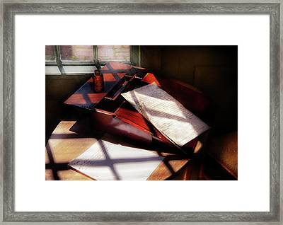 Writer - A Letter To My Brother  Framed Print by Mike Savad