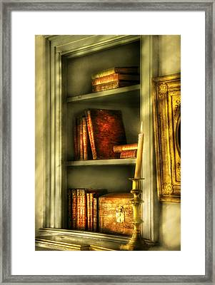 Writer - In The Library  Framed Print by Mike Savad