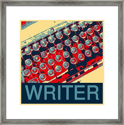 Writer Framed Print by Karyn Robinson