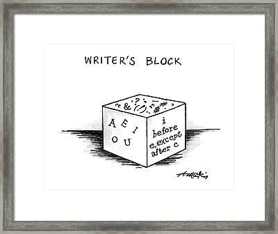 Writer's Block Framed Print