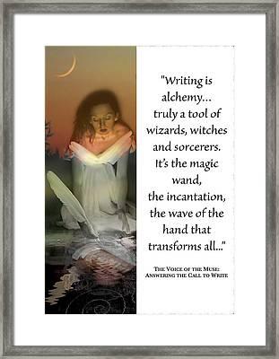 Writing Is Alchemy Framed Print
