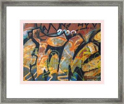 Writing On The Wall 1 Framed Print by Sara  Raber
