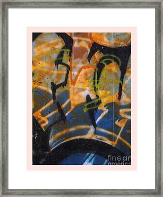 Writing On The Wall 3 Framed Print by Sara  Raber