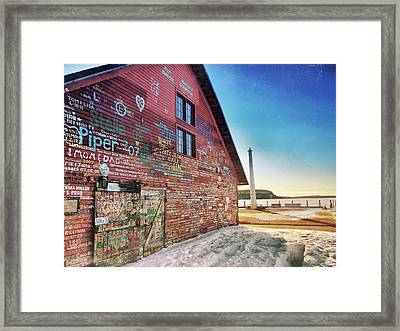 Framed Print featuring the photograph Writing On The Wall by Luke Collins