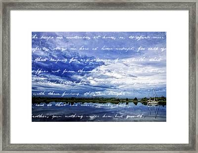 Writing On The Water Framed Print by Alice Gipson