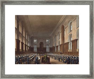 Writing School, Christ Hospital Framed Print by Frederick Mackenzie