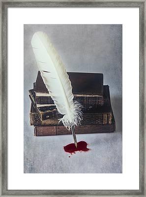 Written In Blood Framed Print by Joana Kruse