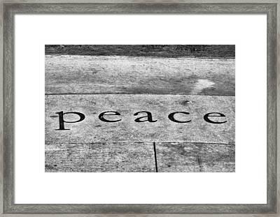Written In Stone Framed Print