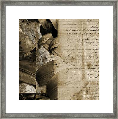 Written Framed Print by Yanni Theodorou