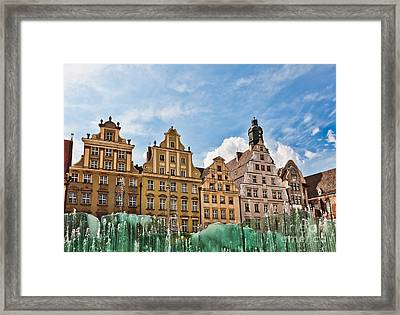 Wroclaw Fountain At The Town Square Framed Print by Frank Bach