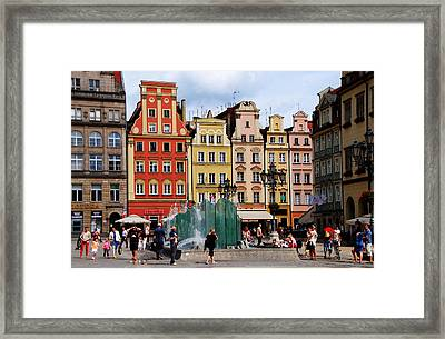 Wroclaw Old Town In Poland Framed Print by Jacqueline M Lewis