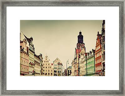 Wroclaw Poland In Silesia Region The Market Square Framed Print