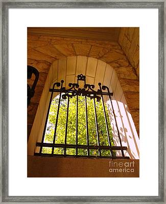 Framed Print featuring the photograph Wrought Iron Arch Window by Becky Lupe