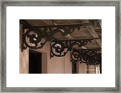 Wrought Iron Echos Framed Print by Jennifer Apffel
