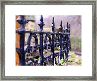 Wrought Iron Fence 1 Framed Print by Kate Purdy