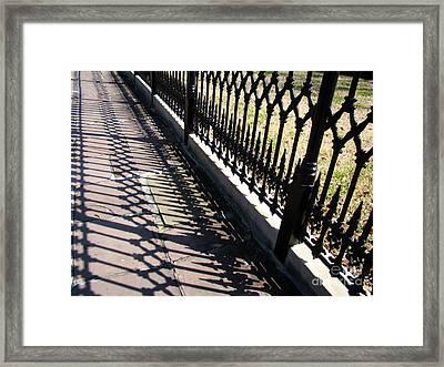 Wrought Iron Fence Framed Print by Eva Kato