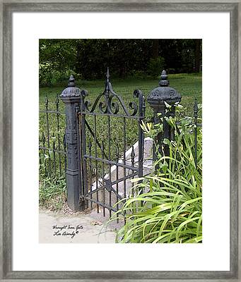 Wrought Iron Gate Framed Print